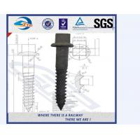 ZhongYue Customized Railroad Rail Screw Spikes Square Head For Railway Manufactures