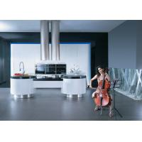 China Simple Modern Design Kitchen Cabinets Lacquer Finish With Artificial Stone Top wholesale