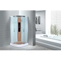 China Comfort Waterproof Curved Corner Shower Enclosure Kits Free Standing Type wholesale