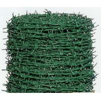 Galvanized / Plastic PVC Coated Barbed Wire , Low Carbon Aviary Wire Mesh Manufactures