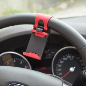 China Car Mount Holder Clip Vehicle Car Steering Wheel Holder Cradle Mount for iPhone 4 4S 5 5S 5C on sale
