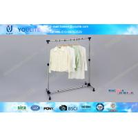 Rotating Metal Pipe DIY Clothes Rack Single Pole Coat Hanger Racks Heavy Duty Type Manufactures
