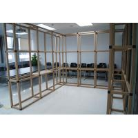 China Custom rigid paper tube cardboard office furniture display rack and stands on sale