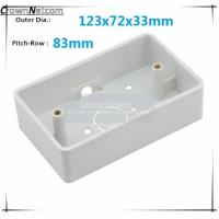 Single Gang Junction boxes ABS US Type Junction Box RJ45 Networking Junction box Manufactures