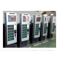 Floor standing Cell Phone Charging Kiosk Advertisment Video Screen with Remote Control Function Manufactures