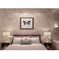 Moisture Proof Light Pink Rustic Floral Wallpaper , Home Furnishing Wallpaper Manufactures