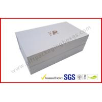 Rectangle Silver Rigid Gift Boxes , Handmade Magnetic Gift Box Color Customized Manufactures