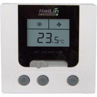 China FCU Digital LCD Fan Coil Thermostat with Blue backlight , 86x86x23mm wholesale