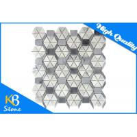 China Irregular Shape Waterjet Marble Mosaic Polished Mixed Colour Tile Italy Grey Indoor Outdoor Use on sale