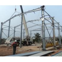 Warehouse Steel Framed Industrial Buildings High Strength Steel Welded H Section