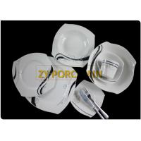 Gracious Design Full Dinner Set , Customized Dining Plate Sets Ab Grade Easy For Storage