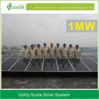 China 1MW Utility Scale Solar Power Plant Accurate Mounting 110V - 380V on sale