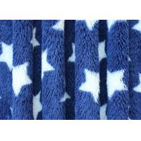 Comfortable Star Pattern Print Berber Fleece Fabric Flame Retardant Cloth Lining Manufactures