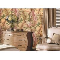 China Solid South East Asian Inspired Wallpaper , Japanese Banana Leaf Pattern Wallpaper on sale