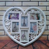 China 2015 China Hot Sale Home Decor Cheap Love Heart Plastic Shaped Photo Frame wedding Gifts on sale