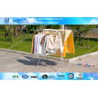 Extendable X-type Folding Clothes Rack Metal Clothing Drying for Towels / Shirts Manufactures