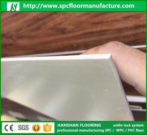 Hanshan ECO waterproof 5.5mm click Vinyl plastic indoor WPC flooring with CE Manufactures