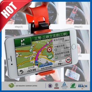 China Mobile Phone GPS Car Mount Holder Clip Buckle Socket Hands Free on Car Steering Wheel on sale