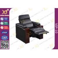 Shop Black Leather VIP Cinema Seats With Power Recline Optional Home Theater Sofa Manufactures