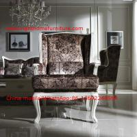 Neoclassical Living Room Furniture by Pure white Wall Unit and Coffee table with Luxury Sofa set