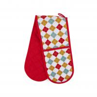 China Hand Protect Cotton Double Oven Mitt 17.5 * 80cm Customized Heat Resistant wholesale