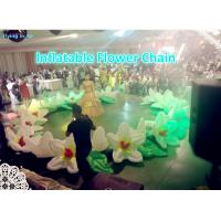 10m Decorative Flower Chain Inflatable Flower String for Stage and Wedding Decoration Manufactures