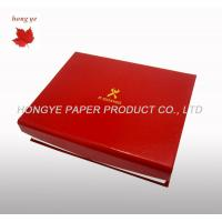 China Red Folding Food Cardboard Boxes , Silk Screen Cookie Packaging Boxes on sale