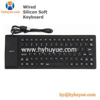 China Mini Wired Silicon Waterproof Keyboard for PC/Tablet/Laptop/Smartphone 83 Keys Flexible wholesale