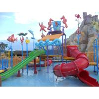 Comfortable Safe Aqua Park Design With Stainless Steel Fastener / Fiberglass Flume Manufactures
