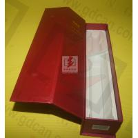 China Wine Recycled Paper Gift Boxe Packaging Red With Matt Lamination wholesale