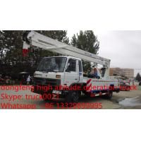 Dongfeng Euro 3 170hp 18m-20m aerial working platform truck for sale, dongfeng 145 18m high altitude operation truck