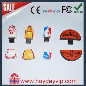 China customized basket ball rubber PVC usb stick on sale