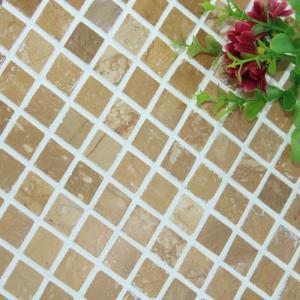 China Square Pattern Kitchen Backsplash Wall Tile , Stone Kitchen Backsplash Subway Tile on sale