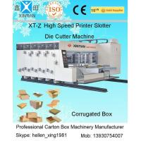 High Grade Steel Mainframe 3 Color Flexo Printing Slotting Die Cutting Machine Manufactures