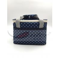 China White Dots Soft Sided Insulated Cooler Bag / Insulated Neoprene Lunch Bag For Adults on sale
