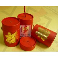 Red Cardboard Cylinder Containers Packaging Box Eco Friendly Manufactures