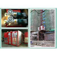 Twin Cage Rack & Pinion Elevator / Construction Site Lift With 2000kg Capacity Manufactures