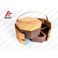 Golden Coated Customized Cardboard Gift Boxes With Lids CMYK Printing Manufactures