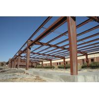 Quality H Type Columns Beams Steel Frame Commercial Buildings , Steel Frame Structure Construction for sale