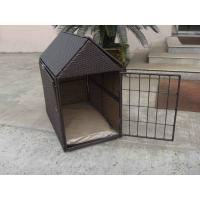 China Aluminum Frame KD Wicker Pet Bed , Outdoor Waterproof Dog House on sale