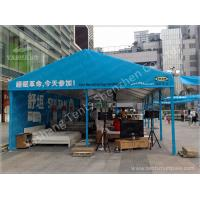 Blue Tent Shade Structure Retail Trade / Exhibition Marquee Eco Friendly Manufactures