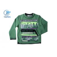China Spring Green Cotton Long Sleeve Boy Toddler Graphic Tees, Baby Clothes Sport Shirts on sale