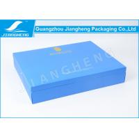 Blue Book Shaped Cardboard Gift Boxes , Eco Friendly Gift Packaging Box