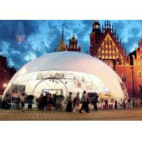 Luxurious Universal Outdoor Event Tents Fabric Dome Structures Long Life Span