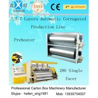 High Speed 3 / 5 / 7 Ply Corrugated Carton Packing Machine With Steam Heating System Manufactures