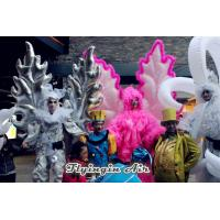 Silvery Inflatable Angel Wings Costumes for Event and Advertisement Manufactures