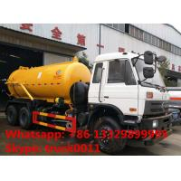 high quality best price DONGFENG 6*4 10M3 vacuum suciotn truck for sale, dongfeng 6*4 10,000L sewage suction truck Manufactures