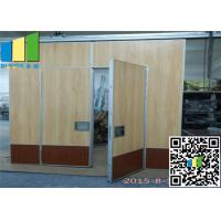 China Star Hotel Luxury Movable Partition Walls Fabric Sliding Panel Acoustic Wall on sale