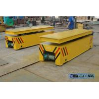 China steel box beam structure hydraulic lifting table rail transport trolley on sale