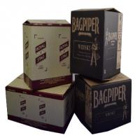 Black Printed Cardboard Boxes , Recycled Gift Boxes Foil Stamping Finish Manufactures